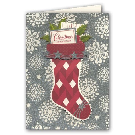 retro stocking boxed christmas greeting cards paperstyle