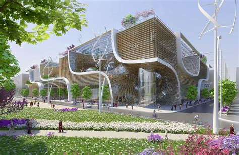 vincent callebaut proposes wooden orchids green shopping center for china archdaily