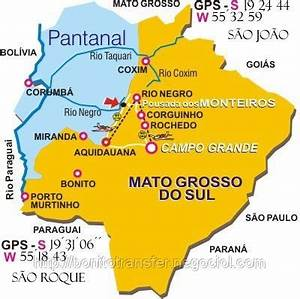 mapa das cidades do estado de mato grosso do sul ...