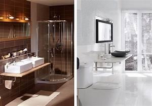 carrelage petite salle de bain ides With idee deco salle de bain petite