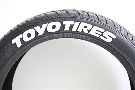 whitetirelettering toyo tires hd tire stickers