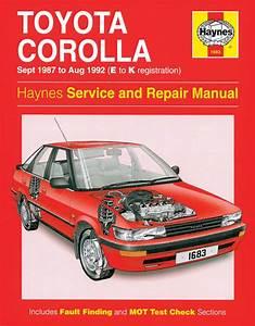Haynes Workshop Car Repair Manual Toyota Corolla  Sept 87