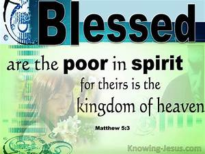 Matthew 5:3 - Verse of the Day