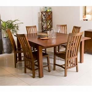 Table A Manger Carree : table manger carr e rallonge 140 50 x 140 cm mindi dpi import ~ Teatrodelosmanantiales.com Idées de Décoration