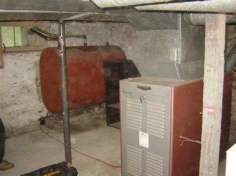 Basement Vs Crawl Space by Old Furnace And Oil Tank Myhomescience