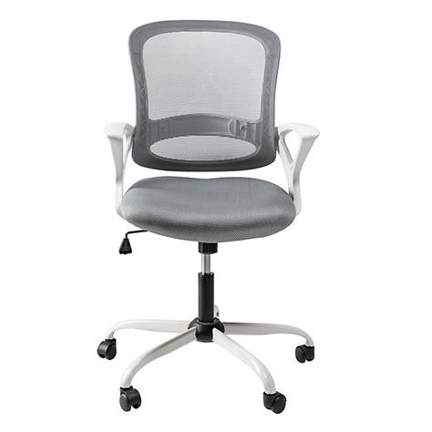 le de bureau alinea fauteuil de bureau à roulettes blanc et gris archic