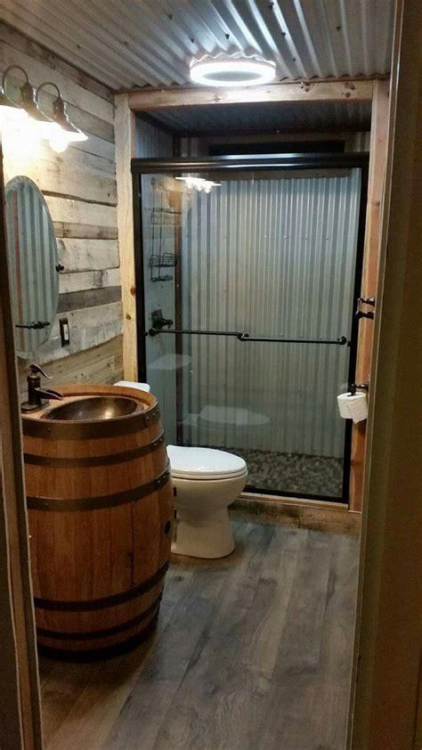 barn bathroom ideas barn tin bathroom country homes pinterest barn tin barndominium floor plans and barndominium