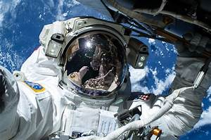 Astronaut Barry Wilmore on the First of Three Spacewalks ...