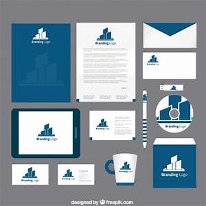 Corporate identity in navy blue tone Vector | Free Download