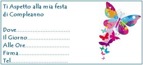 invito farfalle colorate bimbi  carta
