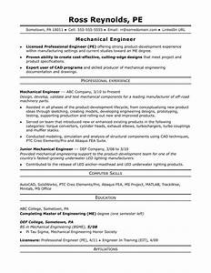 sample resume for a midlevel mechanical engineer monstercom With resume samples for experienced mechanical engineers