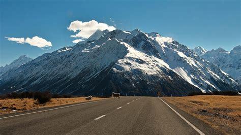 Mountains Landscape Nature Mountain Road Wallpaper