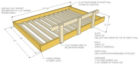 bed frame support slats how to build a size loft bed jays custom creations