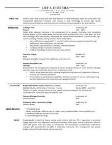 carpenter resume objective exles carpenter resume template free resume templates