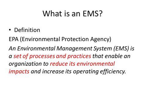 bureau definition environmental management system ppt