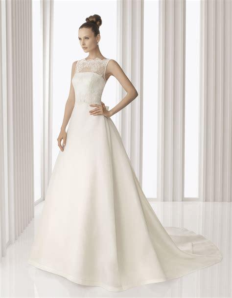 classic ivory   rosa clara wedding dress  sheer