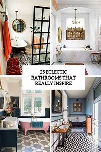 25, Eclectic, Bathrooms, That, Really, Inspire