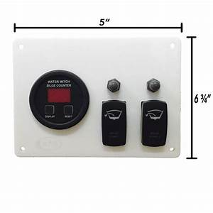 Bilge Pump Panel With Digital Cycle Counter For 2 Pump System