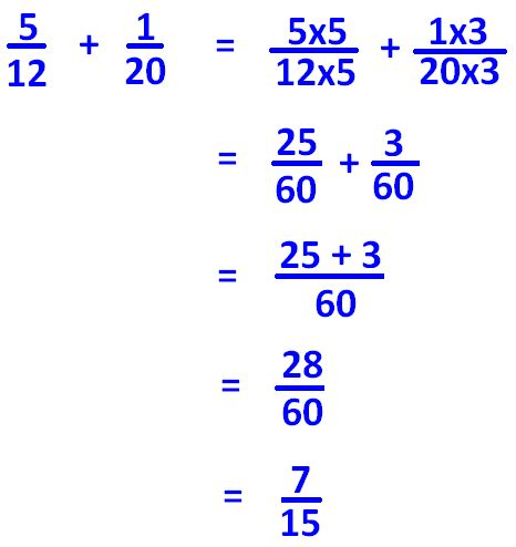 adding  fractions   denominators