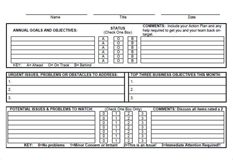goal tracking template   samples examples format