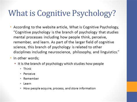 Jean Piaget & Cognitive Psychology