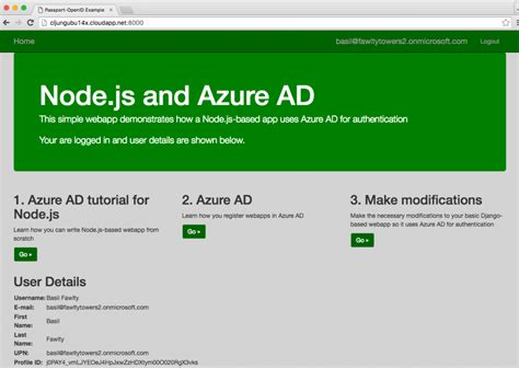 Azure Ad For An Open Source Based Website