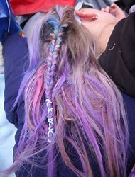 Pastel Pink Hair and Blue