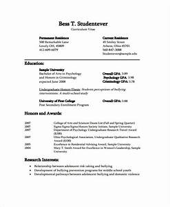 curriculum vitae for students format dtk templates With curriculum vitae examples for students