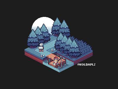 isometric pokemon pixel art  nick  dribbble dribbble