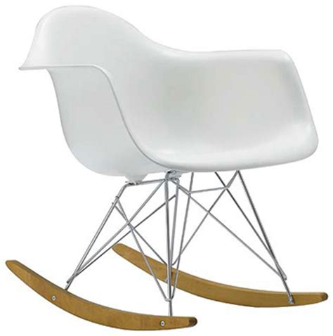 chaise rockincher eames dining chair polkadot