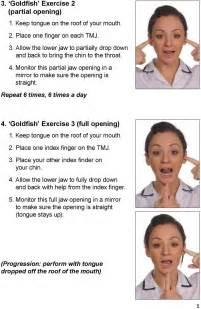 TMJ Jaw Exercises PDF