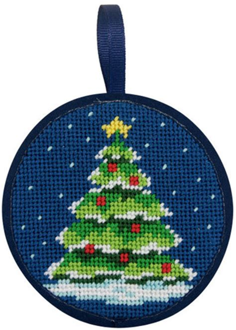 needlepoint christmas ornament kits peterson tree ornament needlepoint kit su7005 123stitch