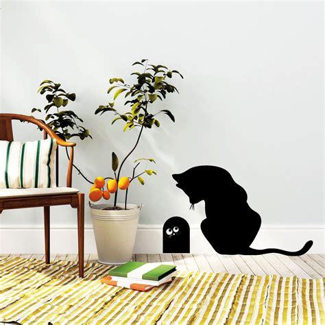 Wandtattoo Kinderzimmer Katze by Katze Mit Mauseloch Wandtattoos