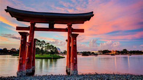 epcot disneyland torii  kultur japanische architektur
