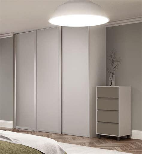 Sliding Wardrobe Doors by Deluxe Shaker Single Panel Sliding Wardrobe Doors In