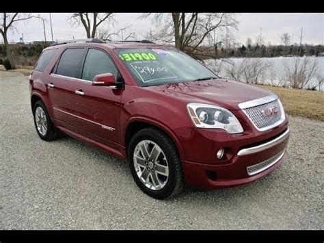 gmc acadia denali red jewel tintcoat  sale dealer
