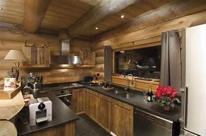 Deco Cuisine Bois : cuisine de chalet inspiration nordique en 2019 chalet chalet montagne et decoration chalet ~ Melissatoandfro.com Idées de Décoration