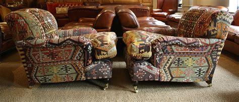 leather chairs  bath istanbul kilim lansdown pair