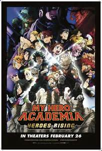 hero academia heroes rising reveals  poster