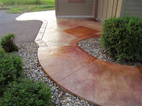 stained concrete walkway nolan king king architectural concrete and construction llc concrete decor