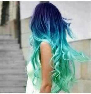 Blue turquoise ombre hair | My Style | Pinterest
