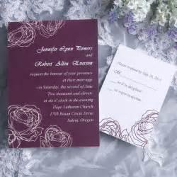 free wedding invitations vintage plum wedding invitation cards ewi142 as low as 0 94