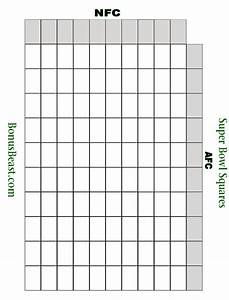 Search results for empty 100 square grid printable for Super bowl 2015 squares template