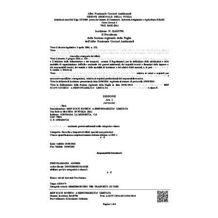 iscrizione di commercio costo albo nazionale gestori ambientali iscrizione modifica e