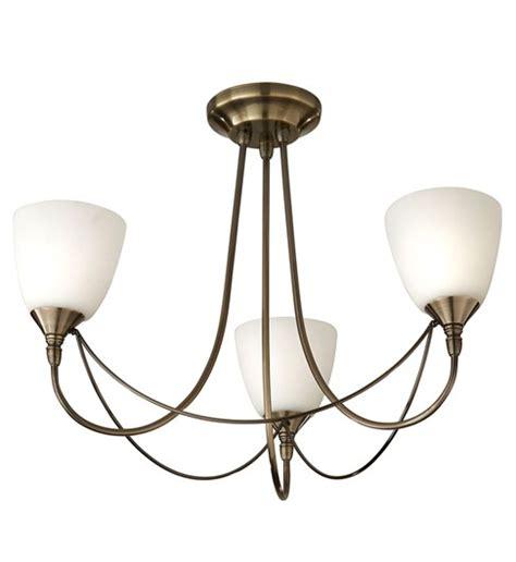 nottingham 3 light ceiling fitting antique brass multi