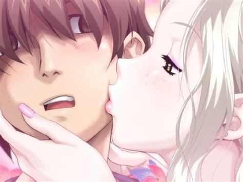 anime kiss mark kiss on cheek on tumblr
