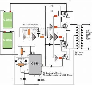 Transformerless Dc To Ac Inverter Circuit Diagram