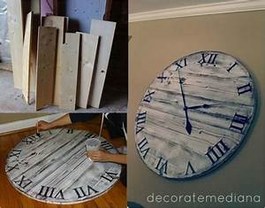 Diy giant pottery barn wall clock for 10 do it yourself for Diy giant wall clock