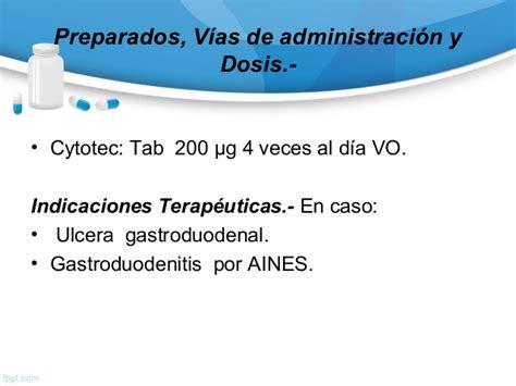 Cytotec Y Sus Efectos Farmacologia Del Aparato Digestivo