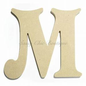 unfinished wooden letter uppercase quotmquot victorian font With machine that cuts out wood letters